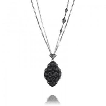 Tacori City Lights After Dark Embellished Chain Gem Pendant Necklace