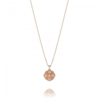 Tacori Moon Rosé Lotus Four Gem Pendant