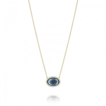 Tacori Golden Bay Pave Oval Gem Pendant