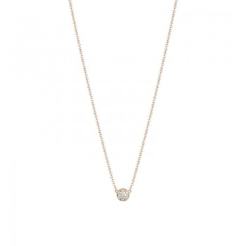 Petite Dew Drop Pendant featuring Pavé Diamonds SN195P