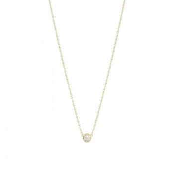 Petite Dew Drop Pendant featuring Pavé Diamonds SN195Y