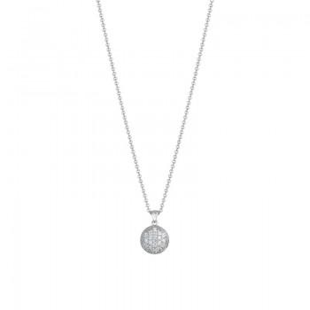Dew Drop Pendant featuring Pavé Diamonds
