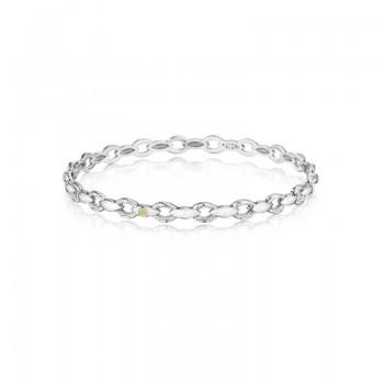 Tacori Silver Links Bracelet featuring Diamonds