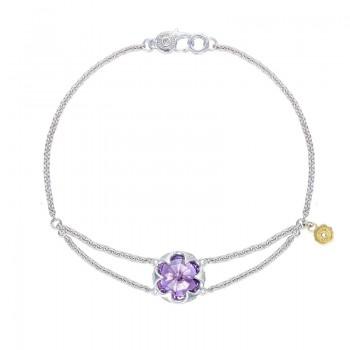 Split Chain Bracelet featuring Amethyst