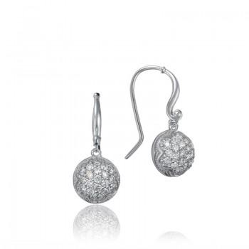 Dew Drop Earrings featuring Pavé Diamonds
