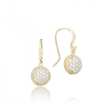Dew Drop Earrings featuring Pavé Diamonds SE205Y
