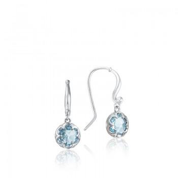 Petite Crescent Drop Earrings featuring Sky Blue Topaz