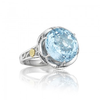 Crescent Gem Ring featuring Sky Blue Topaz