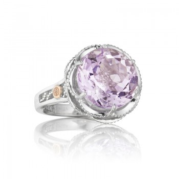 Tacori Blushing Rose Silver Crescent Ring