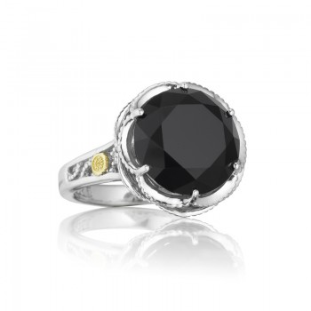 Crescent Gem Ring featuring Black Onyx