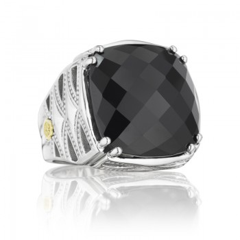 Tacori Classic Rock Gem Woven Crescent Ring