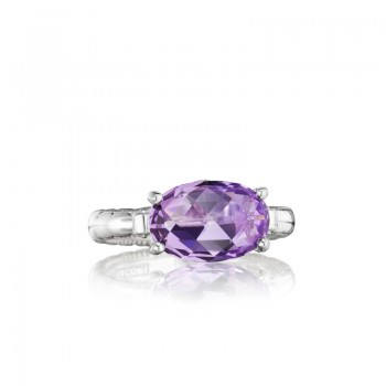 Tacori Lilac Blossoms East-West Oval Gem Ring