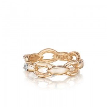Crescent Links Ring in Rose Gold