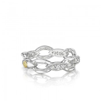 Tacori The Ivy Lane Silver Links Pave Ring