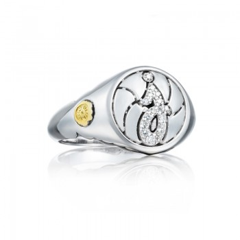 Pavé Monogram Ring SR194J