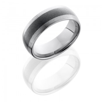 Lashbrook Ceramic And Tungsten 8mm Domed Band TCR8349